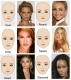 8 verschiedene Augenbrauen Schablonen